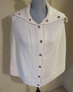 7a4f44fe88fb5 Women s L XL Talbots Wool Blend Poncho Sweater  Talbots  Poncho  Casual  Cashmere