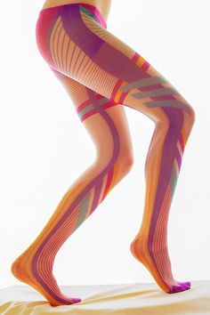 Flamingo-like tights - Asymmetric Tights - Unisex Tights