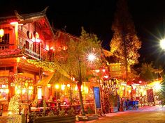 Night in Lijiang,Yunnan,China