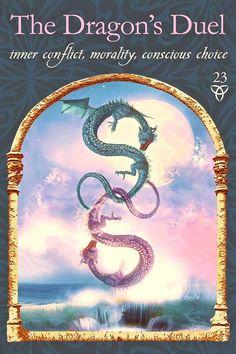 The dragons duel - psychic tarot