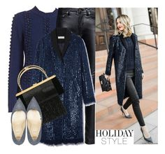 """""""Cozy Sparkle"""" by arethaman ❤ liked on Polyvore featuring Tory Burch, Yves Saint Laurent, Balmain and Alexander White"""