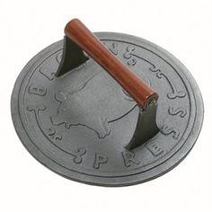 Amazon.com: Norpro Cast Iron Round Bacon Grill Press: Kitchen & Dining