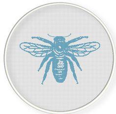 Buy 4 get 1 free ,Buy 6 get 2 free,Cross stitch pattern, Crossstitch PDF/JPEG,vintage bee pattern, cross stitch pillow pattern,zxxc0284. $4.00, via Etsy.