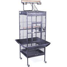 "Yaheetech Wrought Iron Parrot Bird Cage Playtop Cockatiel Cockatoo Birdcages (61""(Black)) - http://www.bunnybits.org/yaheetech-wrought-iron-parrot-bird-cage-playtop-cockatiel-cockatoo-birdcages-61black/"