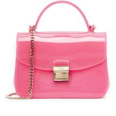 Furla Candy Metropolis Mini Cross Body Bag ($180) ❤ liked on Polyvore featuring bags, handbags, shoulder bags, rodonite, mini handbags, pink cross body purse, crossbody handbags, furla purses and chain shoulder bag
