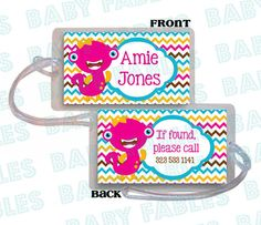 Custom Made Backpack Tag Luggage Diaper Bag Kids by babyfables, $4.00