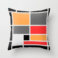 Mondrianista orange red black and gray on lots of objects.
