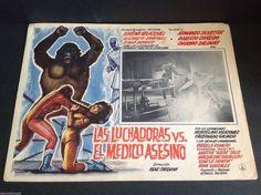 """Las Luchadoras vs. El Medico Asesino Lobby Card (16 1/2"""" x 11 1/2"""")"""
