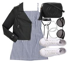 """Untitled #2410"" by mollyk99 ❤ liked on Polyvore featuring Marc by Marc Jacobs, Gucci and Yves Saint Laurent"