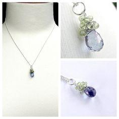 Green peridot and blue amethyst gemstone on by EvasJewellery, $34.99