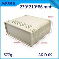 (1 pcs) 230*210*86mm szomk electronics plastic project case abs enclosure box plastic electronic case abs box electronics