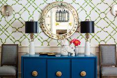 Royal Blue Sideboard