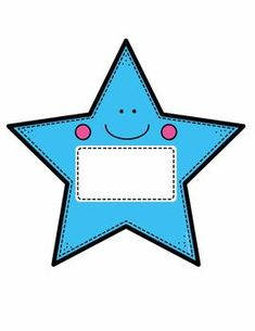 Name Labels for the Classroom - Star Theme Editable Classroom Walls, Classroom Decor, Classroom Labels Free, Name Tag Templates, Material Didático, School Frame, School Labels, School Clipart, Back To School