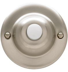 Lighted Round Doorbell Button Solid Brass, 2 Finishes