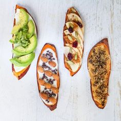 How make sweet potato toast in the oven and four different topping ideas for breakfast sweet potato toast that you will absolutely love!
