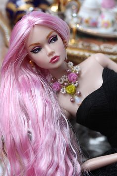 OOAK Joyful in Japan Poppy Parker by Isabelle from Paris Barbie Style, Beautiful Barbie Dolls, Pretty Dolls, Barbie Hair, Barbie Clothes, Fashion Royalty Dolls, Fashion Dolls, Rapunzel, Manequin