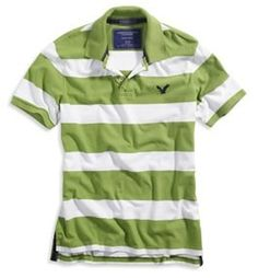 American Eagle Outfitters Mens Striped Polo Shirt
