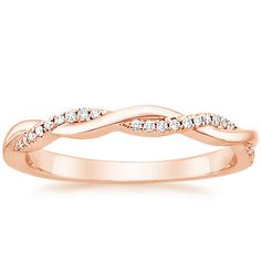 14K Rose Gold Petite Twisted Vine Diamond Ring from Brilliant Earth