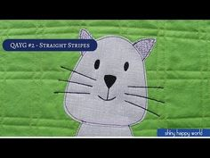 Quilt As You Go #2 - Quilting Straight Line Stripes - YouTube Video- 6:56 mins with Wendy Gratz.