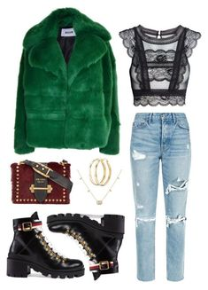 """Untitled #332"" by stardust ❤ liked on Polyvore featuring MSGM, Gucci, GRLFRND, Prada, Charlotte Russe and applepicking"