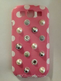 Polka dot galaxy S3 bling case on Etsy, $18.00