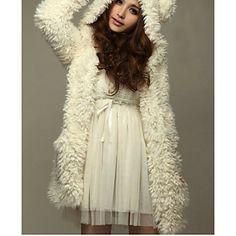 Kvinnors Fleece Hoodie Coat – USD $ 30.09