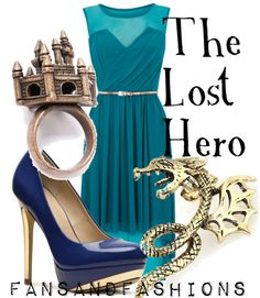 Outfit inspired by the book cover of The Lost Hero by Rick Riordan