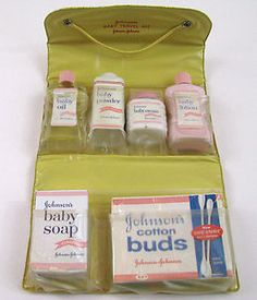 Vintage Johnson & Johnson baby care kit~I had this with my first born, so handy Baby Memories, Great Memories, Childhood Memories, Vintage Advertisements, Vintage Ads, Vintage Items, Baby Soap, Retro Baby, Vintage Nursery