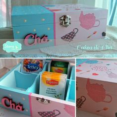 [new] @ storin Caixa de Chá Shabby Chic // caixa para pacotes de chá // pintada à mão // disponível noutras cores mediante encomenda // tea box for tea packages // handpainted // kitchen decor // available in other colours // contact us through mail storin@sapo.pt or facebook www.facebook.com/storinrl Decoupage Paper, Vintage Wood, Toy Chest, Shabby Chic, Hand Painted, Learning, Storage, Gifts, Painting