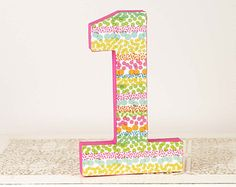 Polka Dot First Birthday Party Decor - Little Girl's First Birthday Cake Topper - Big Number One