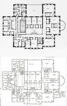 proposed modifications Rhode Island, Cornelius Vanderbilt, The Breakers, Architecture Plan, Floor Plans, Country Houses, Mansions, How To Plan, Classic