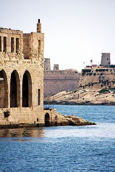 Manoel Island, with views of Valletta Bastions across the harbour.