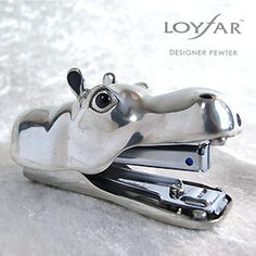 Can't believe I don't have one of these in my collection! Hippopotamus stapler - I so want this for my office.