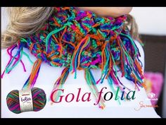 Gola de Crochê | Super Fácil | Folia | Professora Simone - YouTube