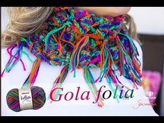 Gola de Crochê | Super Fácil | Folia | Professora Simone