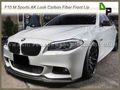 ARKYM-Style-Carbon-Fiber-Front-Bumper-Lip-For-11-15-BMW-F10-5-Series-w-M-Sport