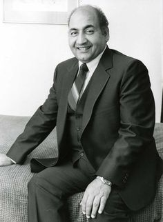 Mohammed Rafi (24 December 1924 – 31 July 1980) was one of the most popular and respected playback singers of India. He was one of the most versatile singer.