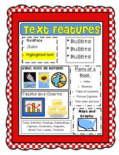 glossary for children text feature. Brilliant Glossary Text Features Printable Great Reminders For Kids Createabilities  Textfeatures  In Glossary For Children Feature