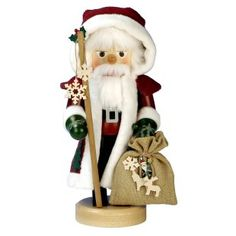 Red Santa Nutcracker