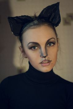 My previous attempts at Halloween makeup have been comically disastrous. I love the eyes and nose here, but I probably can't replicate.