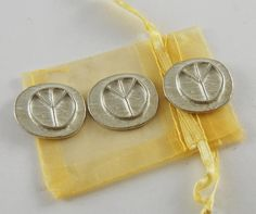 Set of 3 Pocket Peace Sign Pocket Pieces with by CourageInStone