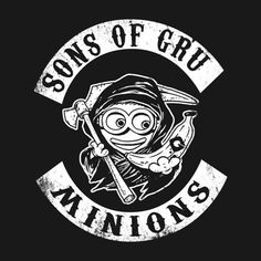 a mashup of despicable me's minions and sons of anarchy Nascar Costume, Minion Characters, Biker Quotes, Toddler Boy Outfits, Cool Inventions, Sons Of Anarchy, Cute Tshirts, Breaking Bad, Bull Terrier