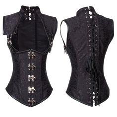 Steampunk Corset, Gothic Corset, Steampunk Fashion, Dark Fashion, Gothic Fashion, Victoria Costume, Costume Armour, Goth Women, Waist Trainer Corset