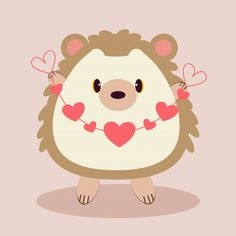 The character of cute hedgehog holding a. Baby Decor, Kids Decor, Vintage Typography, Vintage Logos, Baby Posters, Cute Hedgehog, Retro Logos, School Decorations, Cute Images