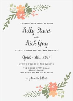 """See the vibrant florals of the Garden Party <a class=""""crosslink"""" href=""""https://www.basicinvite.com/wedding/wedding-invitations.html"""" target=""""_self"""" alt=""""Custom Wedding Invitations"""" title=""""Custom Wedding Invitations"""">Wedding Invitations</a> in your wedding colors. These invitations are part of the Crafty Pie Collection, and they are entirely customizable. Add your text in a font from..."""