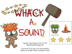 Speech Room News: Whack a Sound: K,G,F, S {Freebie Included!)