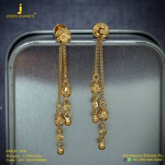 "It's Monday Time To Sparkle And Shine !"" Get in touch with us on Gold Jhumka Earrings, Jewelry Design Earrings, Gold Earrings Designs, Gold Drop Earrings, Gold Hanging Earrings, Jewelry Stand, Ring Designs, Gold Bangles Design, Gold Jewellery Design"