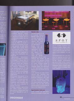 Article dans DISCOTHEQUE NIGHTBAR AND DJS Décembre 2014 sur www.spot-lumiere-led.com