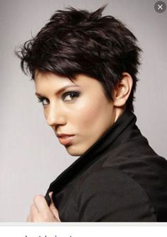 Super Short Hairstyles For Women Pixie Haircut For Thick Hair, Short Hairstyles For Thick Hair, Very Short Hair, Short Hair Styles Easy, Short Pixie Haircuts, Short Hair Cuts For Women, Pixie Hairstyles, Curly Hair Styles, Textured Hairstyles