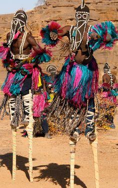 Dogon Dancers by Martha de Jong-Lantink